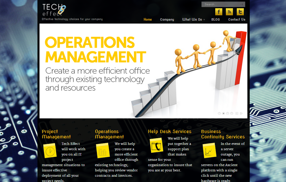 Wordpress website for a B2B service provider