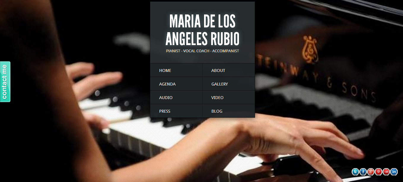 A pianist website with a clean and classy design.